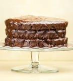 Köstlicher geschmolzener Schokoladenkuchen Stockbild