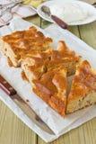 Köstlicher geschnittener Apfelkuchen Lizenzfreie Stockfotos