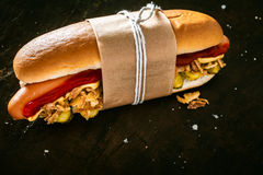 Köstlicher Hotdog Stockfotos