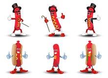 Köstlicher Hotdog Stockbilder