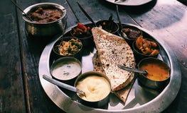 Köstlicher Inder Thali stockbild