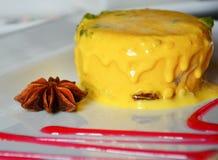 Köstlicher indischer Nachtisch der Mango-Eiscreme lizenzfreie stockfotos