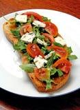 Köstlicher italienischer bruschetta Snack Stockbild