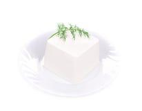 Köstlicher Käse und Dill Stockbild