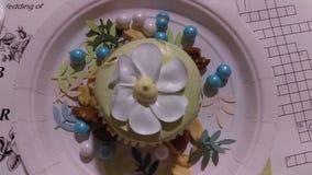Köstlicher kleiner Kuchen Stockfoto
