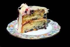 Köstlicher Klumpen des Kuchens Stockfotos