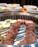 Köstlicher koreanischer Grill Stockfotografie
