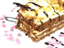 Köstlicher Kuchen auf weißem Hintergrund Lizenzfreies Stockfoto
