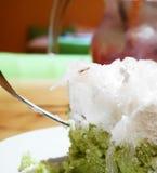 Köstlicher Kuchen des grünen Tees Lizenzfreie Stockfotos