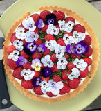 Köstlicher Kuchen Gardenlife stockfotografie