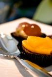 Köstlicher Mangofruchtkuchen Lizenzfreies Stockfoto