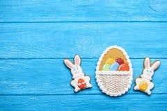 Köstlicher Ostern-Plätzchenhintergrund Stockfoto