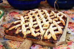 Köstlicher Pflaumenkuchen Lizenzfreie Stockbilder