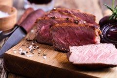 Köstlicher Rindfleischleiste Mignon stockbild
