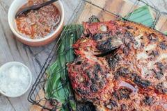 Köstlicher Rotbarsch gegrillt Stockfoto