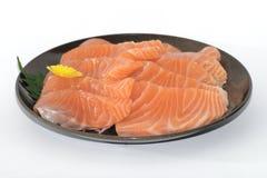 Köstlicher Sashimi auf einer Platte Stockfotografie