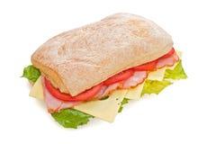 Köstlicher Schinken, Tomaten u. Käse Lizenzfreies Stockfoto