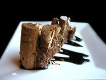Köstlicher Schokoladenkaffeekuchen Stockbilder