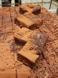 Köstlicher Schokoladenschokoladenkuchen stockfoto