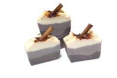 Köstlicher Seifenkuchen, Kaffee gerochen Kälte verarbeitet und langsam stockfoto