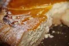 Köstlicher selbst gemachter Käsekuchen Stockbild