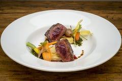 Köstlicher Steak-Teller 1 Stockbild