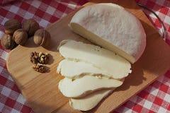 Köstlicher und empfindlicher selbst gemachter Käse Stockbild