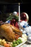 Köstlicher Weihnachtstruthahn Lizenzfreie Stockbilder