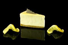 Köstlicher Zitronen-Käsekuchen Stockfotografie