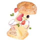 Köstliches ciabatta Brot Stockfoto