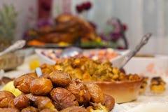 Köstliches extravagantes Danksagungs-Abendessen Lizenzfreie Stockfotos