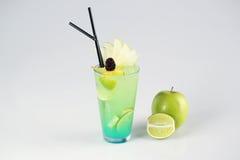 Köstliches frisches grünes Cocktail Lizenzfreie Stockfotos