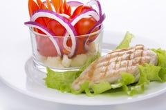 Köstliches Lebensmittel für eine große Zahl Stockbild