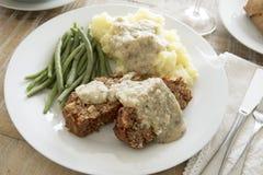 Köstliches Linsen-Laib des strengen Vegetariers Stockbilder