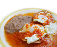 Köstliches mexikanisches Frühstück Lizenzfreie Stockfotos