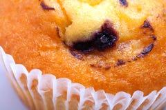 Köstliches Muffinfragment der Schwarzen Johannisbeere Stockfoto