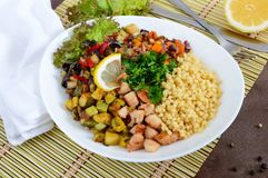Köstliches orientalisches Salat tabbouleh Stockbild