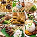Köstliches Ramadan-Lebensmittel der Collage lizenzfreies stockfoto