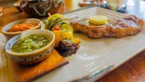 Köstliches Rindfleisch-Lendensteak für das Mittagessen stockfoto