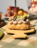 Köstliches Schokoladenbrot für Kinder stockfotografie