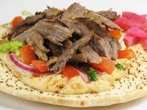 Köstliches Shawarma Rindfleisch und PU Stockfotografie