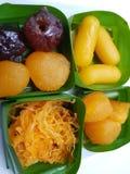 Köstliches thailändisches des süßen Konfekts des Nachtischs Lizenzfreies Stockfoto