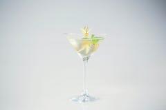 Köstliches transparentes Cocktail Stockfoto