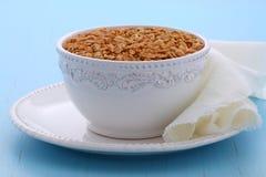 Köstliches und gesundes Granolagetreide Stockfotos