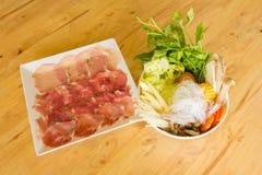 Kött- och grönsakhälsa Fotografering för Bildbyråer
