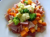 Kött- och grönsakmål Arkivbilder