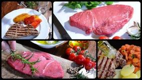 Kött sammansättning lager videofilmer
