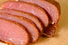 Kött skivad basturma Fotografering för Bildbyråer