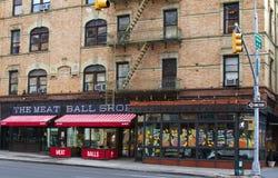 Köttbollen shoppar restaurangen, NYC arkivfoton