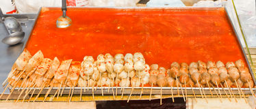 Köttbullesteknålar fotografering för bildbyråer
